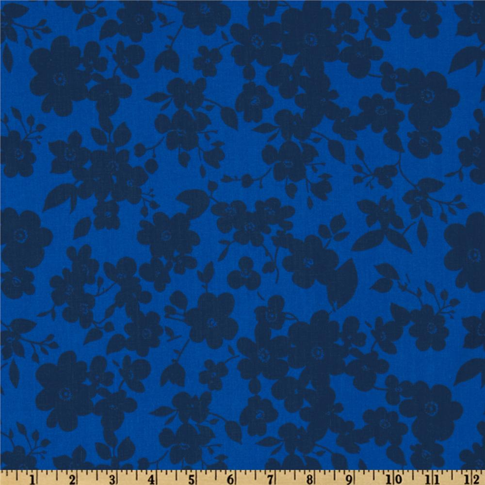108'' Quilt Backing Spin Floral Blue