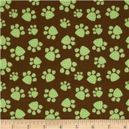 Naughty Puppies Puppy Paw Prints Brown