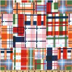 EO-087 Michael Miller Going Coastal Collection Patchwork Plaid Multi