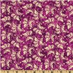 French Twist Scroll Purple/Ivory