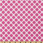 Michael Miller Orchid Gray Beatrice Weave Raspberry