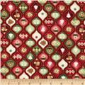 The Giving Quilt Ornaments Metallic Red