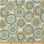 Suburban Home Jacquard Ringo Aqua/Cocoa