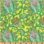 EK-797 Amy Butler Soul Blossom Corduroy Dancing Paisley Lemon