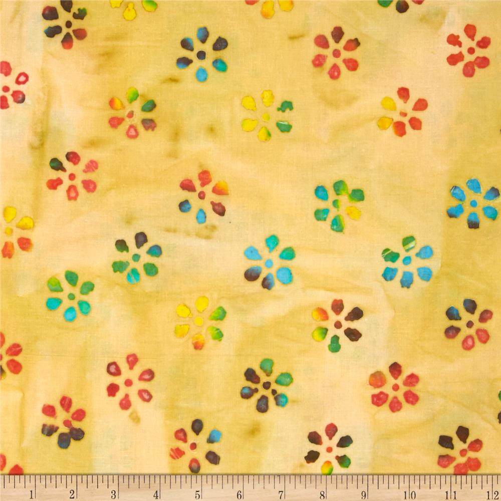 Indian Batik Mini Floral Yellow