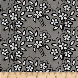 Riley Blake Mystique Flower Black/Grey