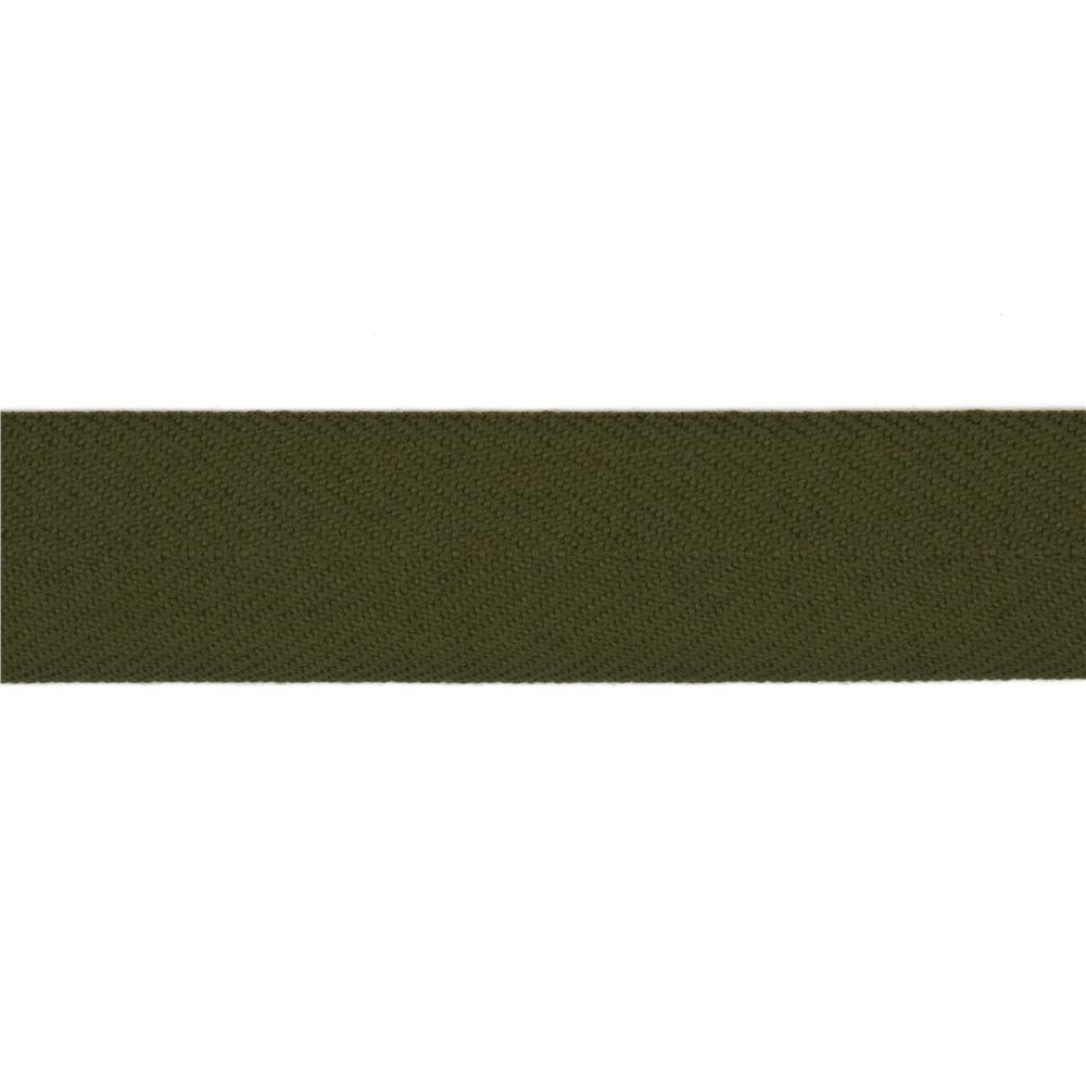 1 1/2'' Poly Twill Tape Ribbon Olive