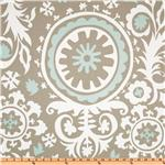 UM-273 Premier Prints Suzani Twill Powder Blue