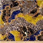 0265283 Safari Shimmer Stretch ITY Knit Cheetah Flourish Gold/Yellow