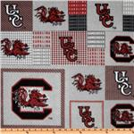 ET-448 Collegiate Fleece University Of South Carolina Plaid Blocks