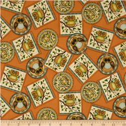 Life's A Hoot Tossed Owl Patches Terracotta