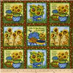 213813 Sunny  Blossoms Sunflower Patch Brown