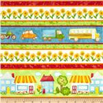 Happy Town Border Print White/Multi