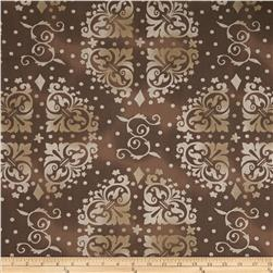 "108"" Wide Quilt Backing Medallion Tonal Brown"