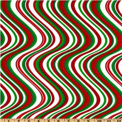 Kanvas Peppermint Twist Wave Green/Red