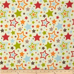 Riley Blake One For The Boys Flannel Tossed Stars Cream
