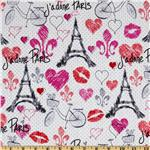 FR-640 Timeless Treasures April In Paris Tossed Paris White