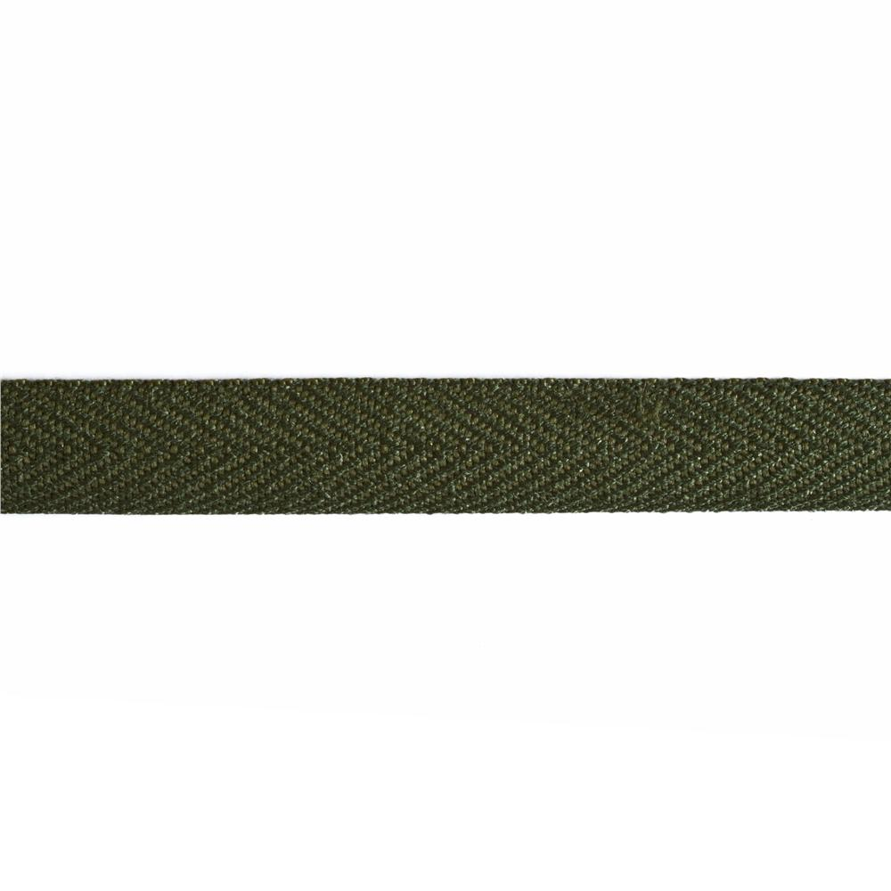 3/4'' Poly Twill Tape Ribbon Olive