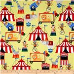 0271319 Michael Miller Circus Tickets Yellow