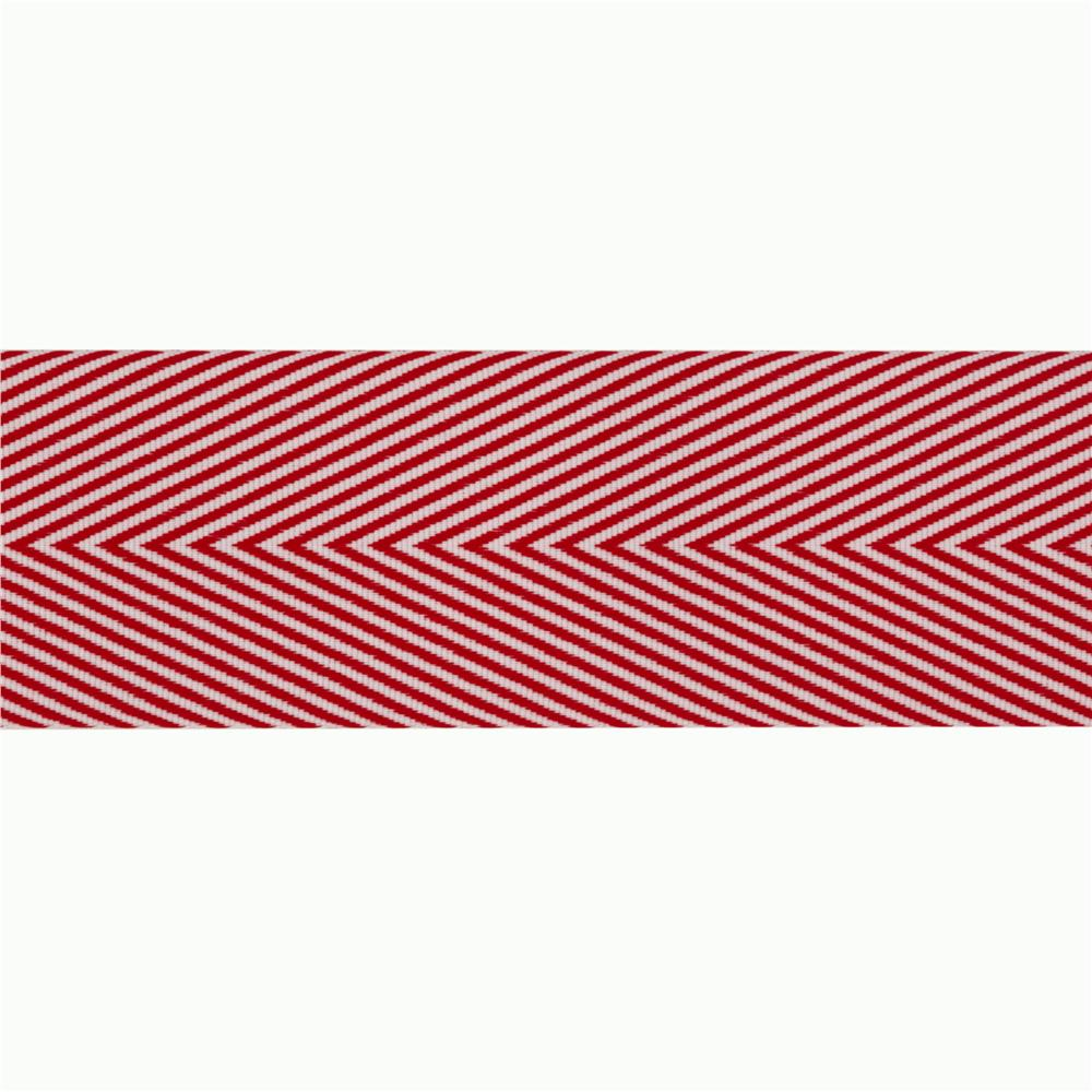 1 1/2&#39;&#39; Twill Tape Chevron Red