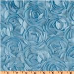Loveable Satin Ribbon Rosette Ice Blue