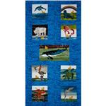 FO-458 10 Little Rubber Ducks Animal Panel Blue