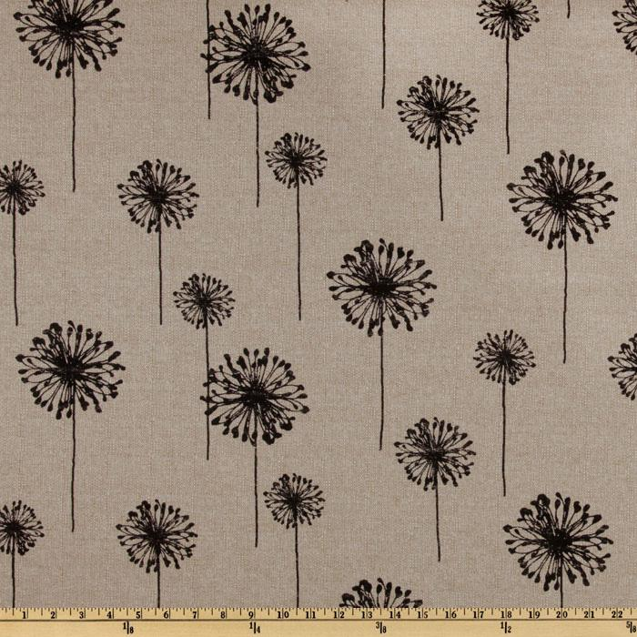 Premier Prints Dandelion Black/Denton