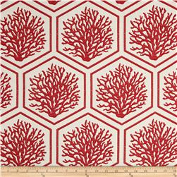 Bella Dura Eco-Friendly Indoor/Outdoor Seascape Jacquard Red