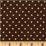 EU-438 Cozy Cotton Flannel Mini Dot Brown