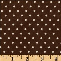 Cozy Cotton Flannel Mini Dot Brown