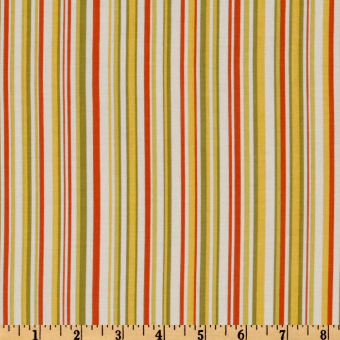 Riley Blake Decadence Stripe Orange/Multi