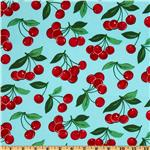 Michael Miller Fruits & Vegetables My Cherry Aqua