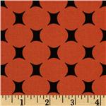 FR-098 Michael Miller Mid-Century Modern Atomic Dot Orange