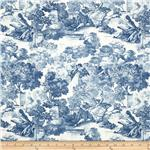0263496 Juliette&#39;s Garden Toile Blue