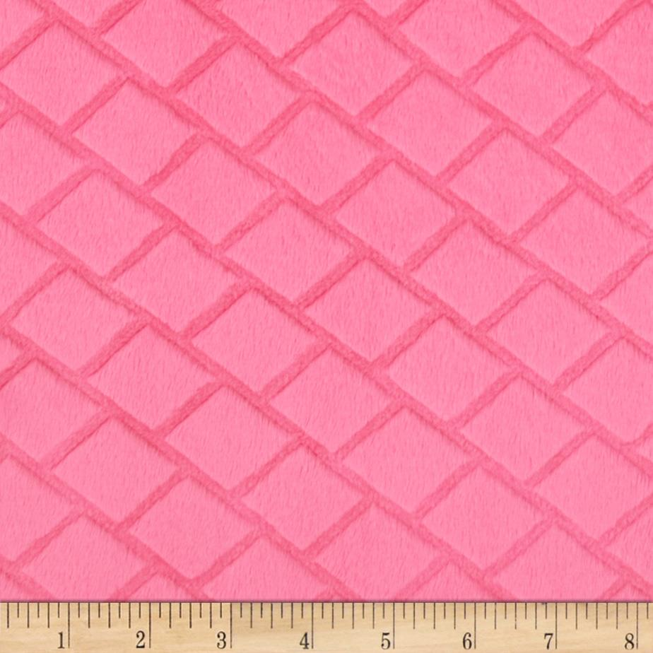 Minky Embossed Diamond Cuddle Fuchsia
