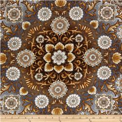 Esmeralda Floral Medallion Pewter Grey
