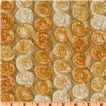 Honeycomb Satin Ribbon Rosette Taffeta Gold