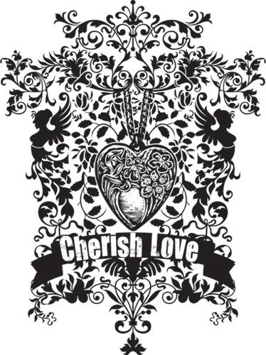 Simply Screen Silk Screen Stencil Cherish Love