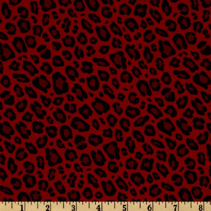 S&#39;Noel Leopard Spots Red/Black