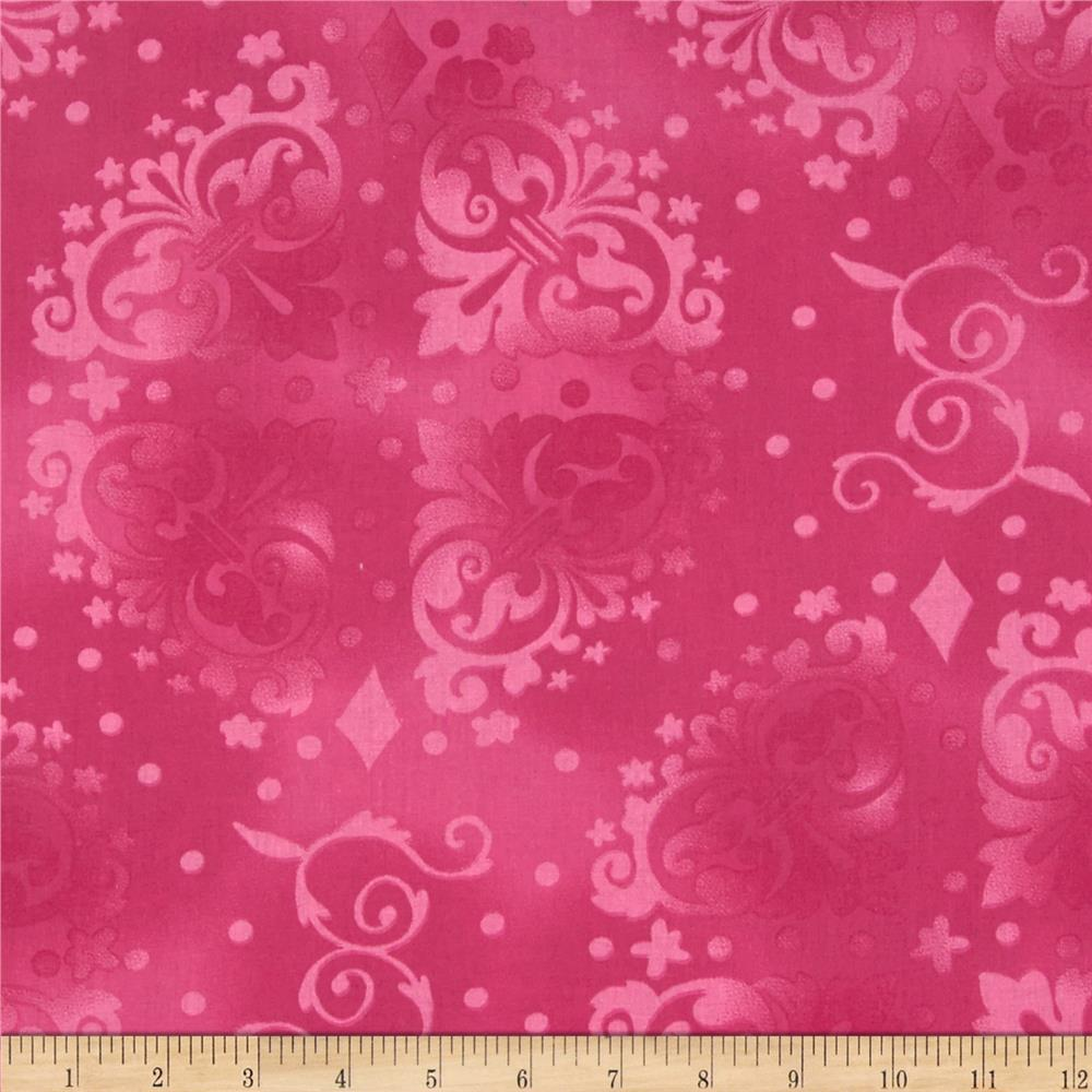 "108"" Wide Quilt Backing Medallion Tonal  Pink"