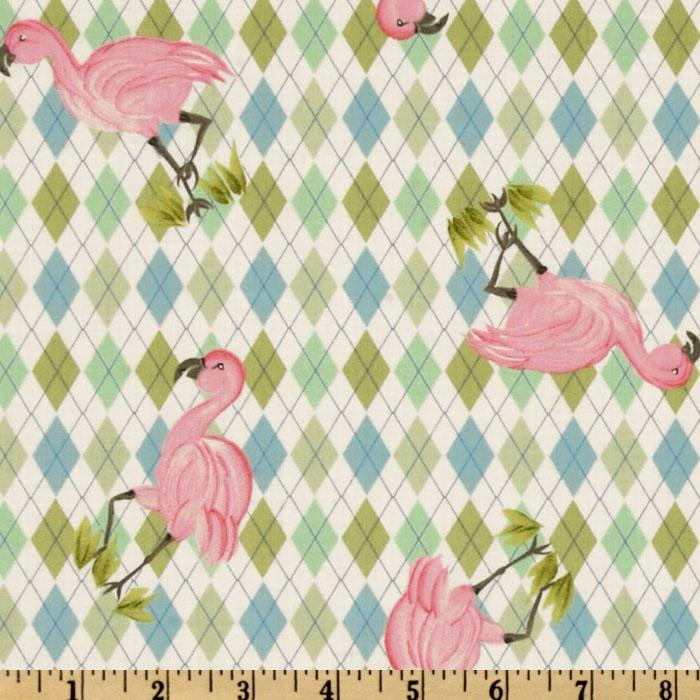 Noah&#39;s Ark Flamingo Argyle Multi