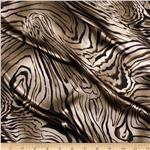 0278535 Satin Charmeuse Wood Grain Brown