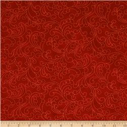 Moda Bobbins & Bits Stitching Swirls Cherry Red