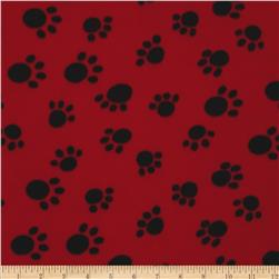 WinterFleece Paws Red
