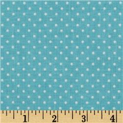 Riley Blake Swiss Dots Aqua/White