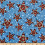 Flannel Tossed Stars Blue
