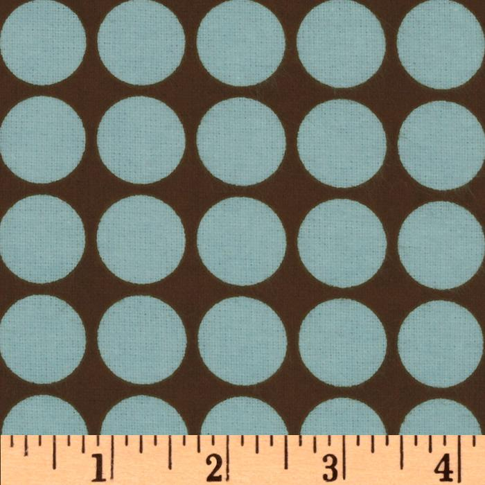 Cozy Cotton Flannel Dots Chocolate