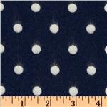 EU-390 Cozy Cotton Flannel Polka Dot Navy