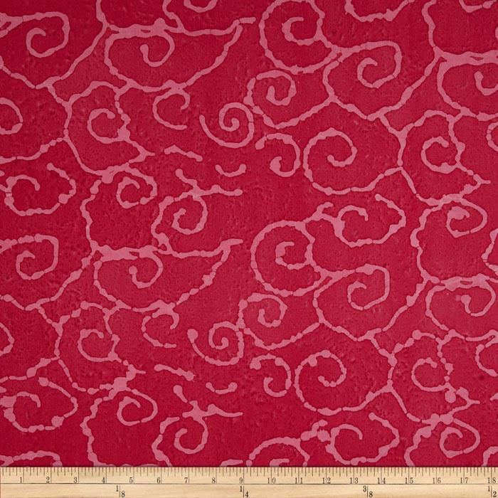 Indian Batik Swirl Fuchsia