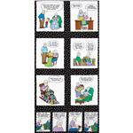 Timeless Treasures Pickles Panel Black